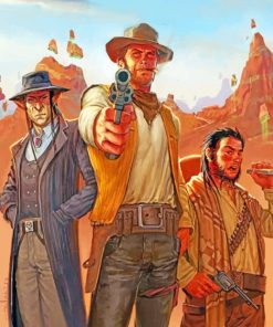 Western Cowboys paint by numbers
