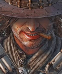 Western Gunslinger Paint by numbers