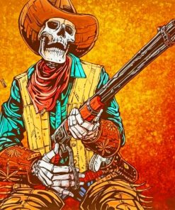 Western Skull Cowboy paint by numbers