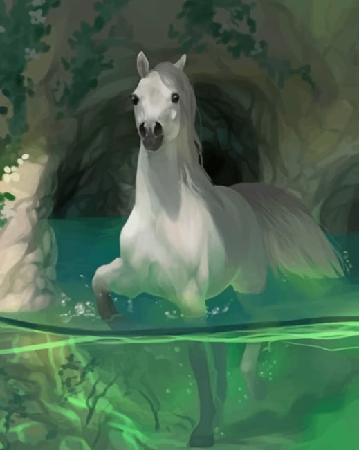 White Horse paint by numbers