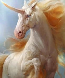 White Unicorn Paint by numbers