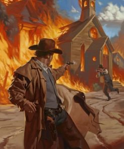 Wild West Gunfight Paint by numbers