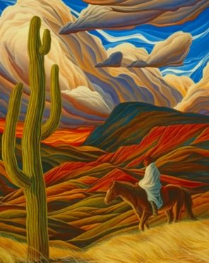 William Haskell Arizona Monument Paint by numbers