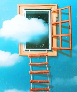 Window Cloud paint by numbers