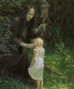 Witch And Little Girl paint by numbers