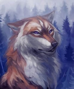Aesthetic Wolf Paint by numbers