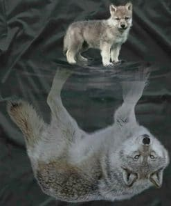 Wolf Reflection paint by numbers