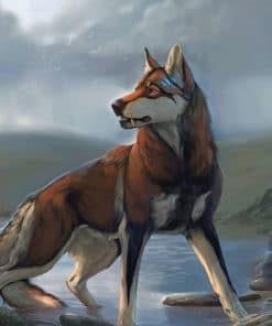 Wolf Dog paint by numbers