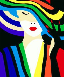 Colorful Woman Illustration Paint by numbers
