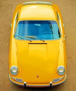 Yellow Porsche paint by numbers