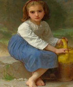 Young Girl With Water Jug paint by numbers