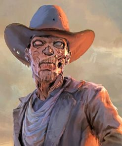 Zombie Cowboy paint by numbers