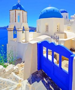 Blue Greece Paint by numbers