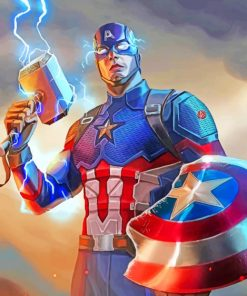 Captain America paint by numbers