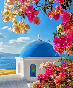 Castle Of Oia Greece Paint by numbers