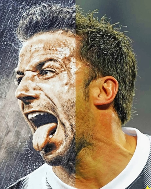 Del Piero paint by numbers