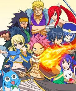 Fairy Tail Paint by numbers