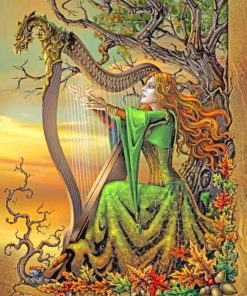 Fantastic Musician Woman paint by numbers