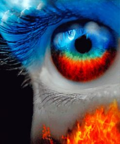 Fire And Ice Eye paint by numbers