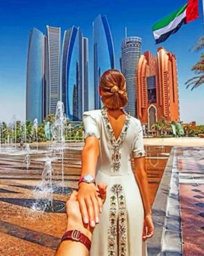 Follow Me To Abu Dhabi Paint by numbers