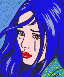 Girl Crying paint by numbers
