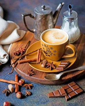 Hot Coffee And Chocolate Paint by numbers