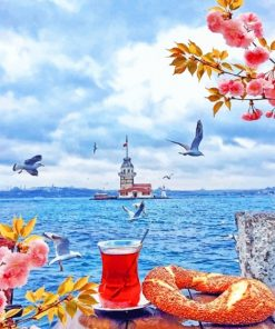 Istanbul And Tea Paint by numbers