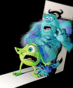 Monsters INC paint by numbers