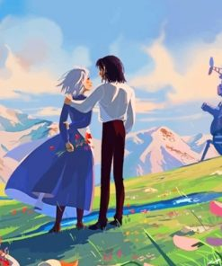 Moving Castle paint by numbers