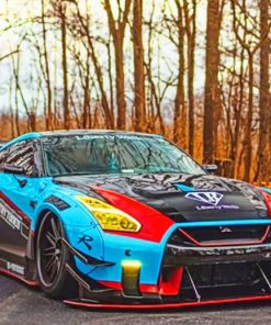 Nissan GTR paint by numbers