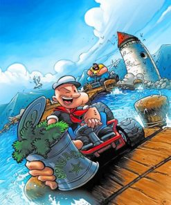 Popeye paint by numbers