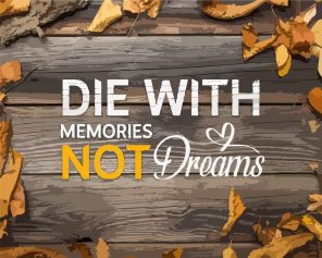 Die With Memories Not Dreams Paint by numbers