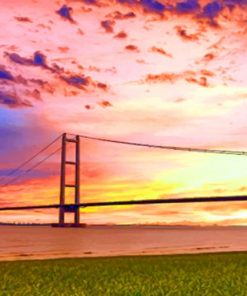 River Humber Bridge paint by numbers