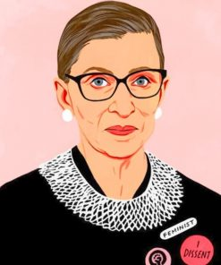 Ruth Bader Ginsburg Paint by numbers
