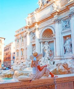 Trevi Fountain Italy Paint by numbers