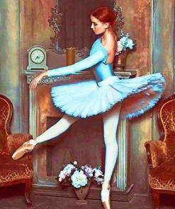 Vintage Ballerina Dancing paint by numbers