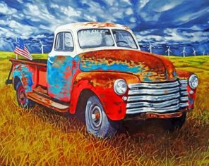 Abandoned Vintage Truck Paint by numbers