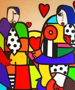 Abstract Couple Paint by numbers