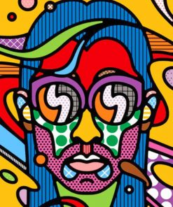 Abstract Face paint by numbers