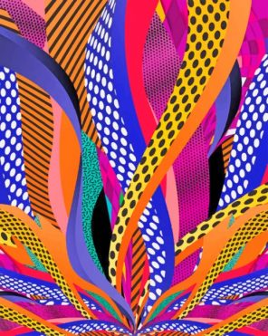 Abstract Geometric Paint by numbers