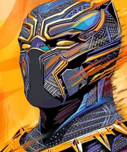Aesthetic Black Panther Paint by numbers