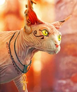 Aesthetic Egyptian Cat Paint by numbers