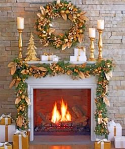 Aesthetic Fireplace Paint by numbers