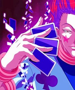 Aesthetic Hisoka paint by numbers