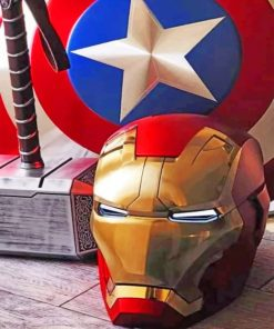 Aesthetic Iron Man Paint by numbers