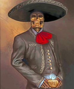 Aesthetic Latino Skull Paint by numbers