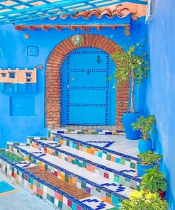 Aesthetic Moroccan House Paint by number
