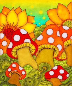 Aesthetic Mushrooms Paint by numbers