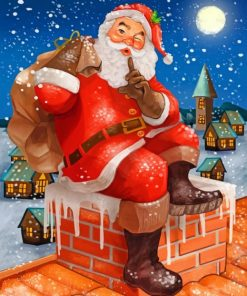 Aesthetic Santa Claus Paint by numbers
