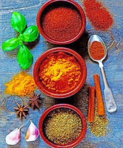 Aesthetic Spices Paint by numbers